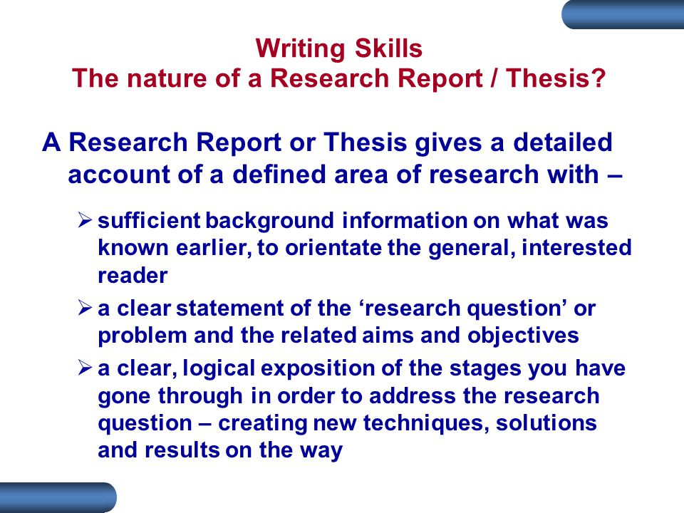 writing skills thesis Thesis writing skills our company can provide you with any kind of academic writing services you need: essays, research papers, dissertations etc assisting you is.