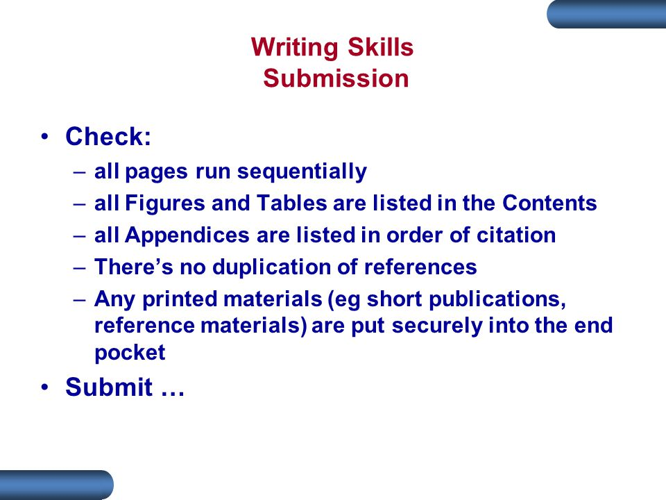 Writing Skills Submission