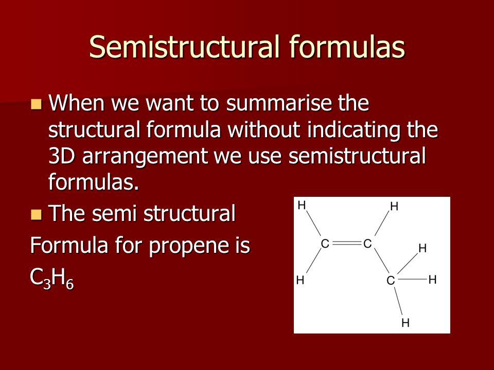 Semistructural formulas