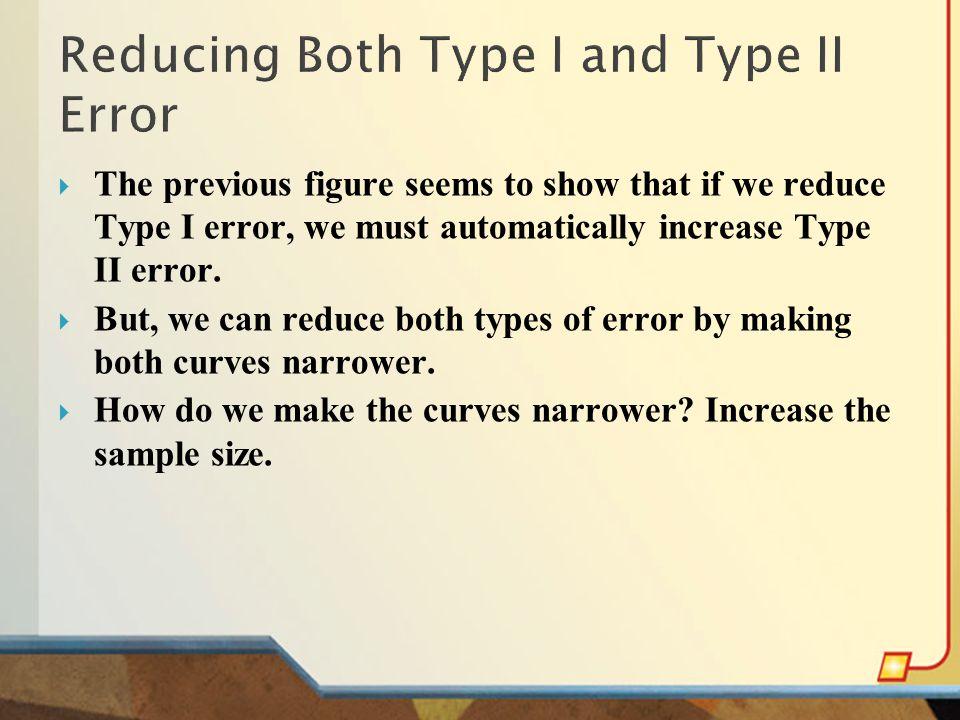 Reducing Both Type I and Type II Error