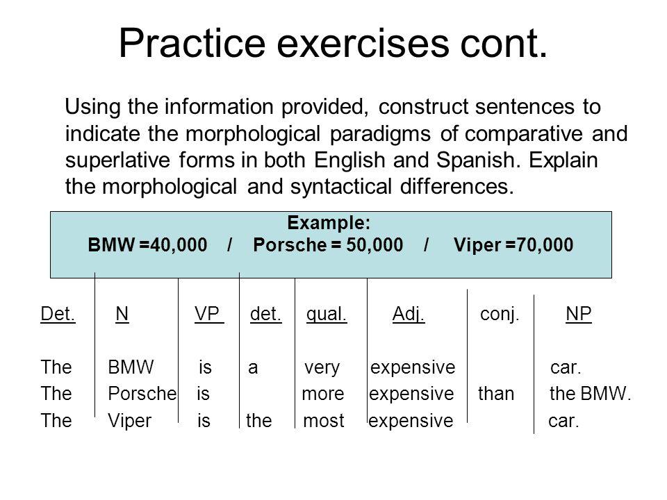 Practice exercises cont.