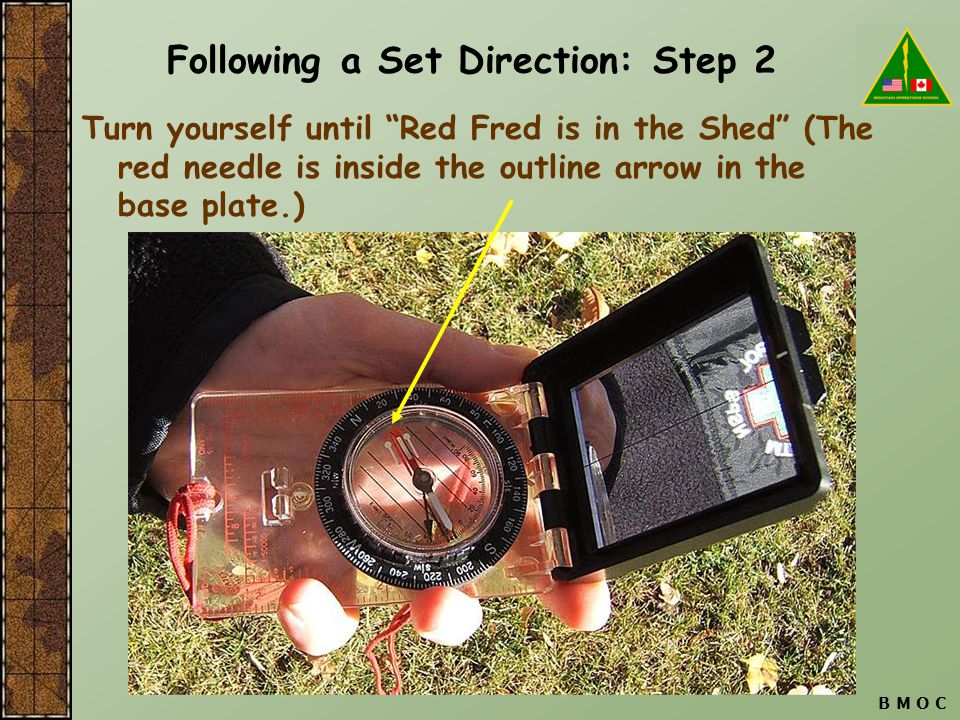 Following a Set Direction: Step 2