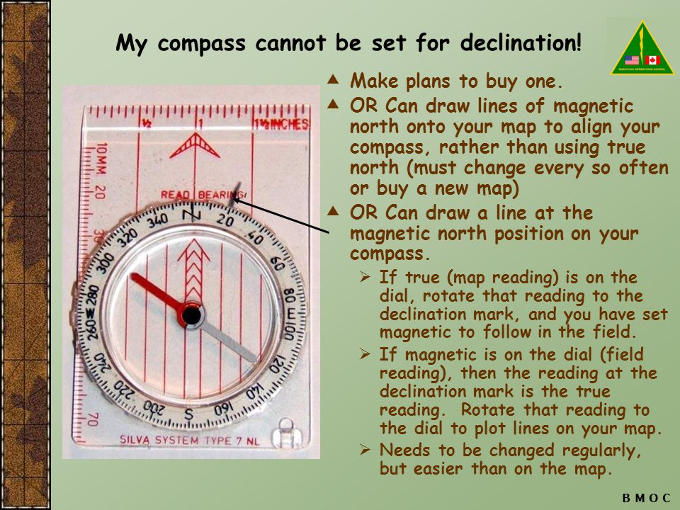 My compass cannot be set for declination!