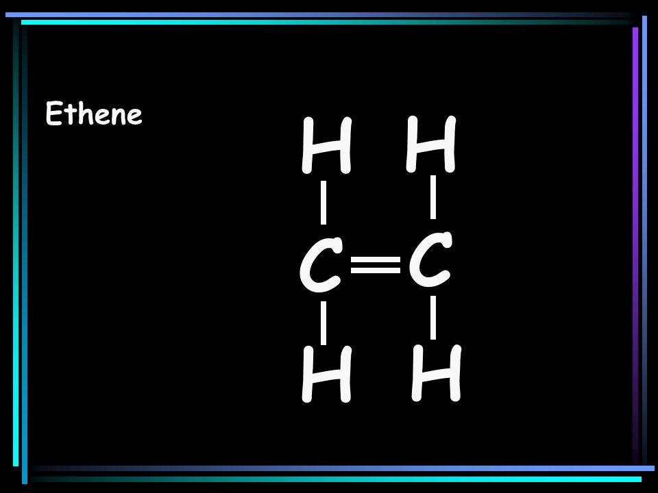 Ethene H H C C H H