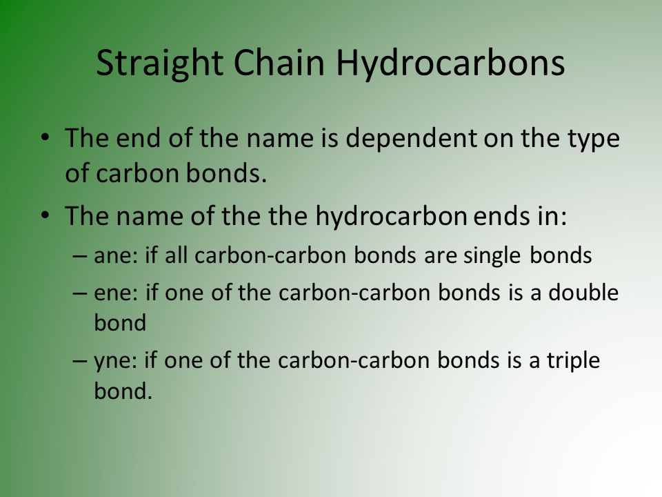 Straight Chain Hydrocarbons