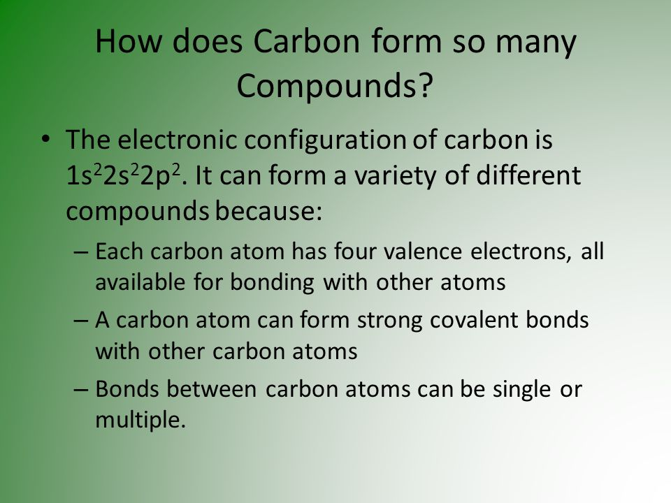 Chapter 8 – Compounds of Carbon - ppt video online download
