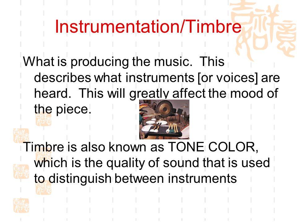 Instrumentation/Timbre