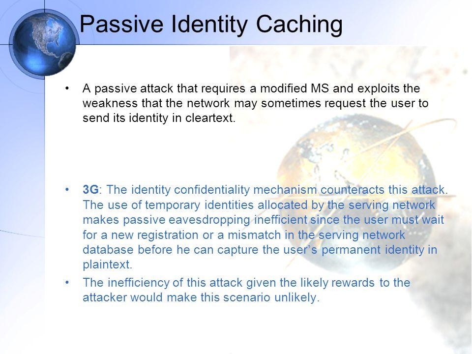 Passive Identity Caching
