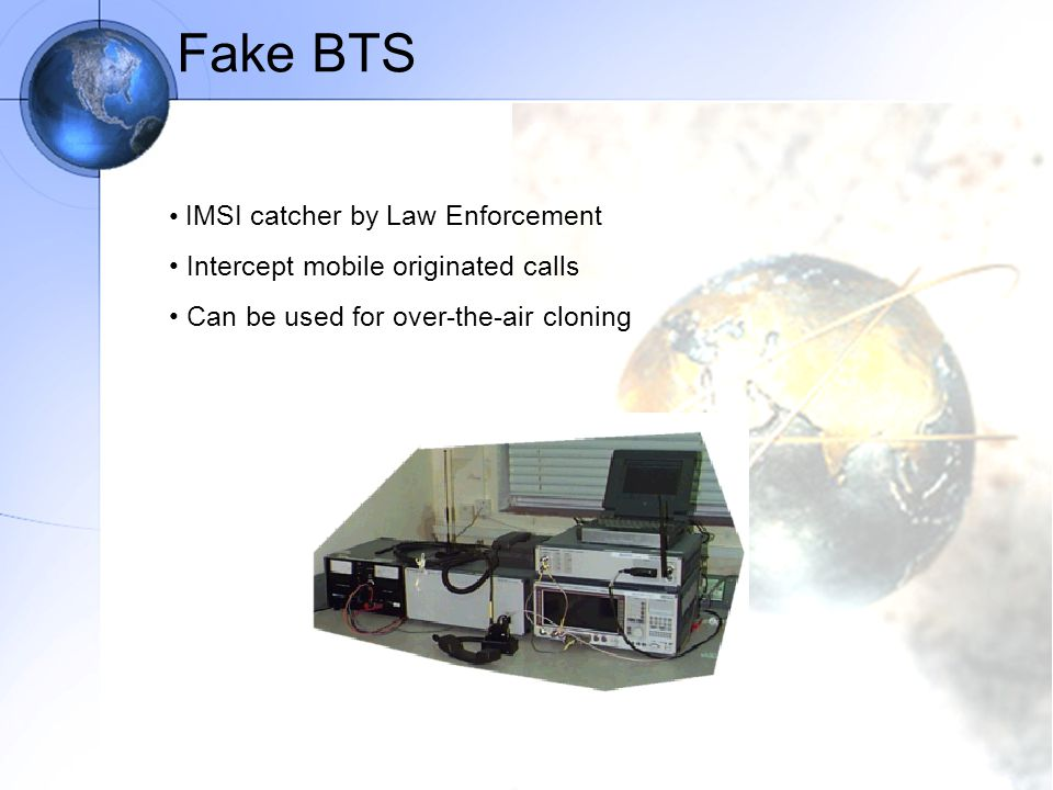 Fake BTS IMSI catcher by Law Enforcement