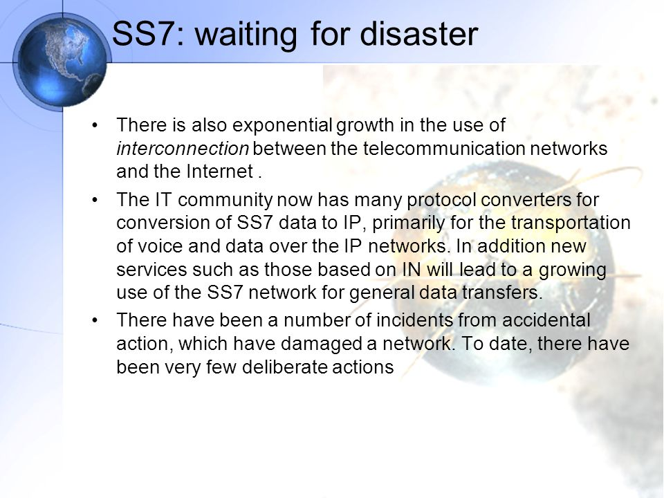 SS7: waiting for disaster