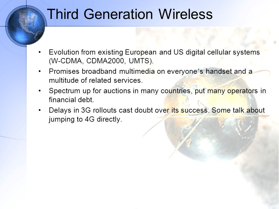 Third Generation Wireless