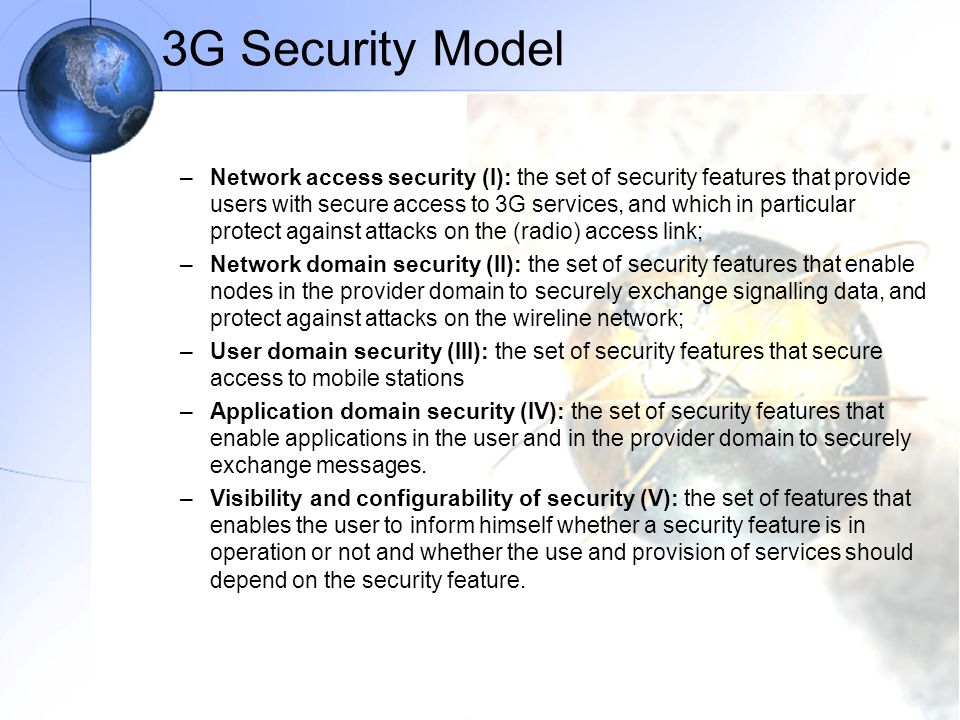 3G Security Model