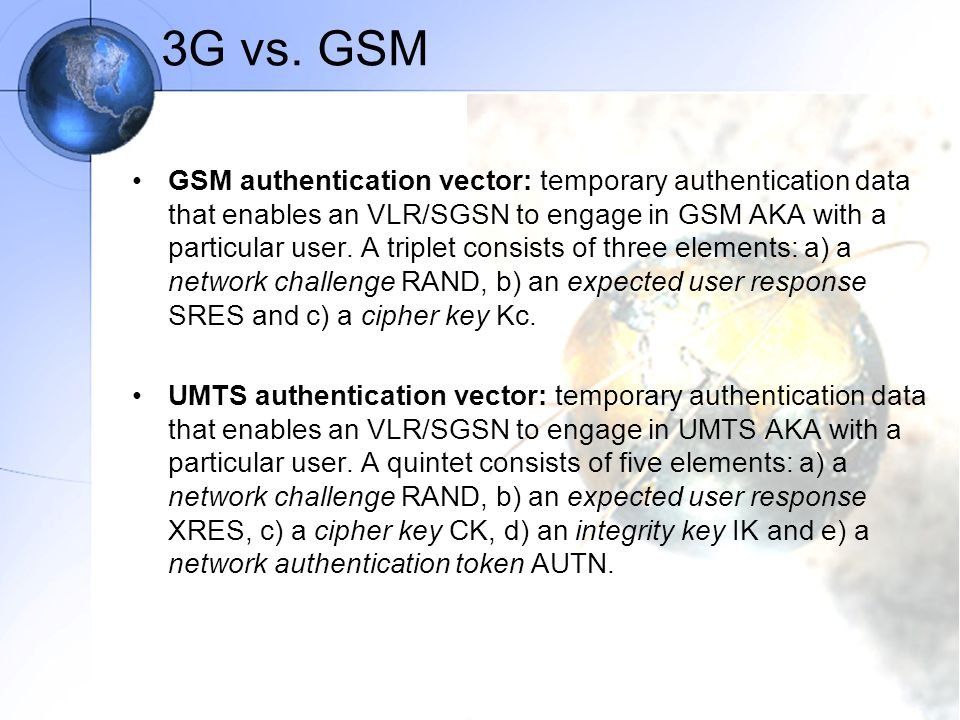 3G vs. GSM