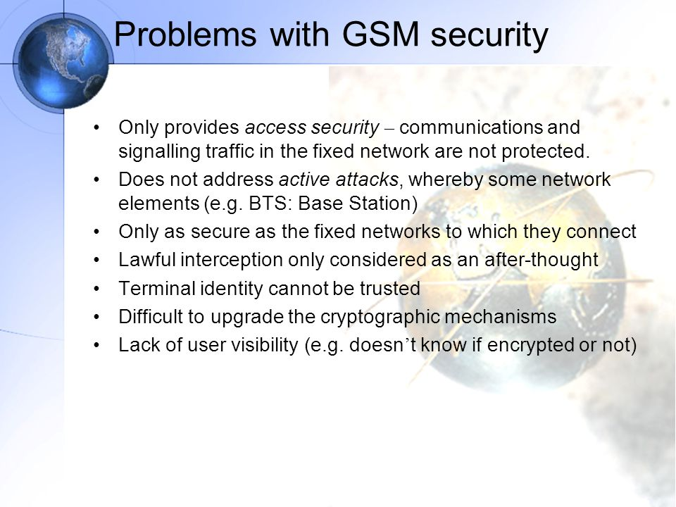 Problems with GSM security