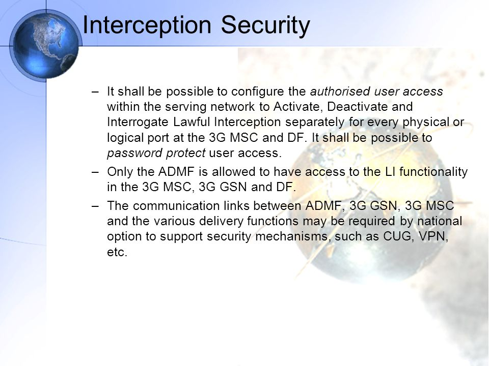Interception Security