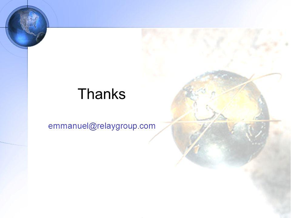 Thanks emmanuel@relaygroup.com