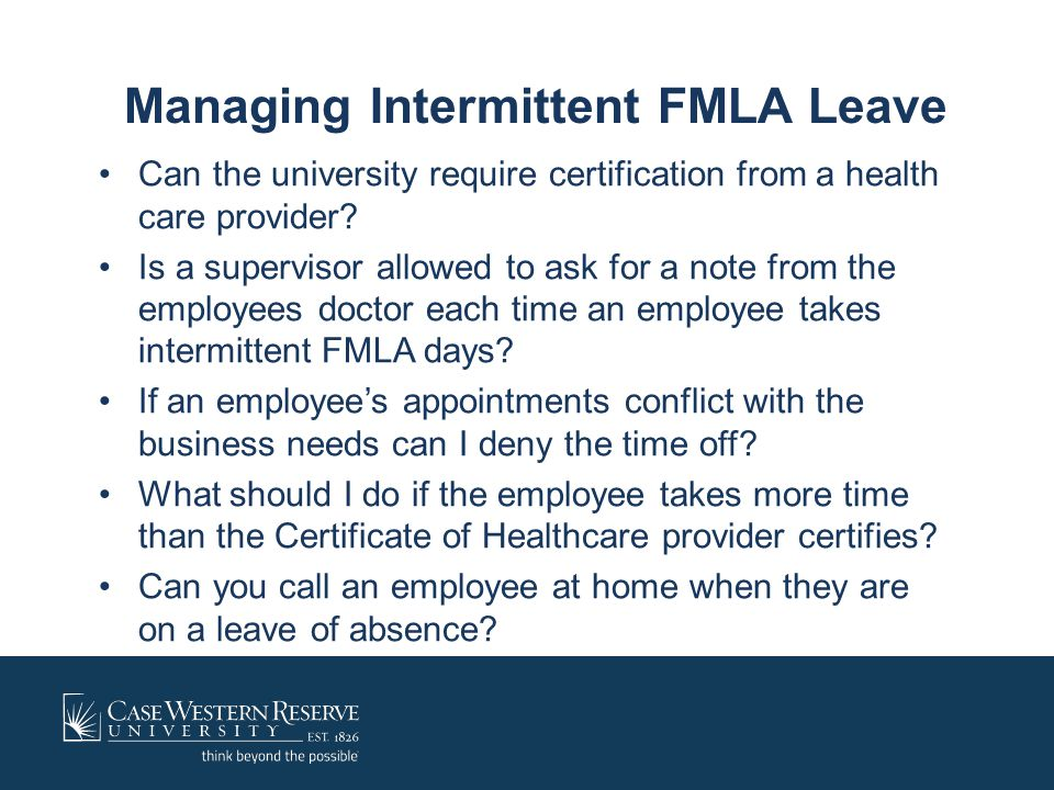 Managing Intermittent FMLA Leave
