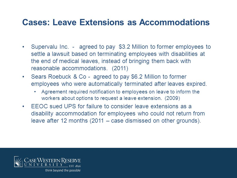 Cases: Leave Extensions as Accommodations
