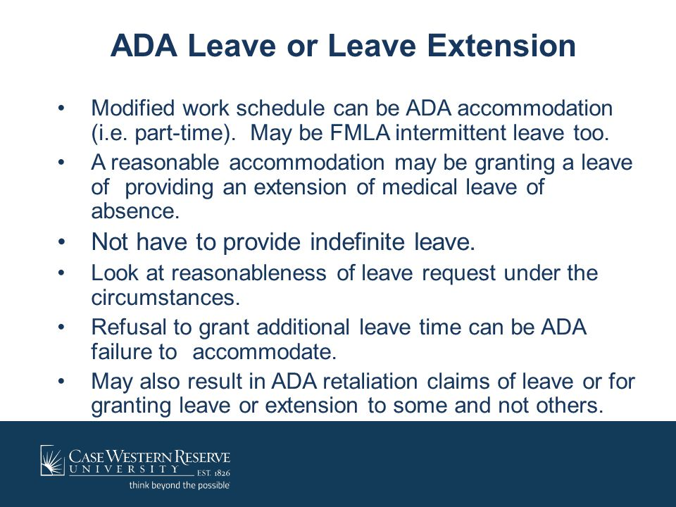 ADA Leave or Leave Extension