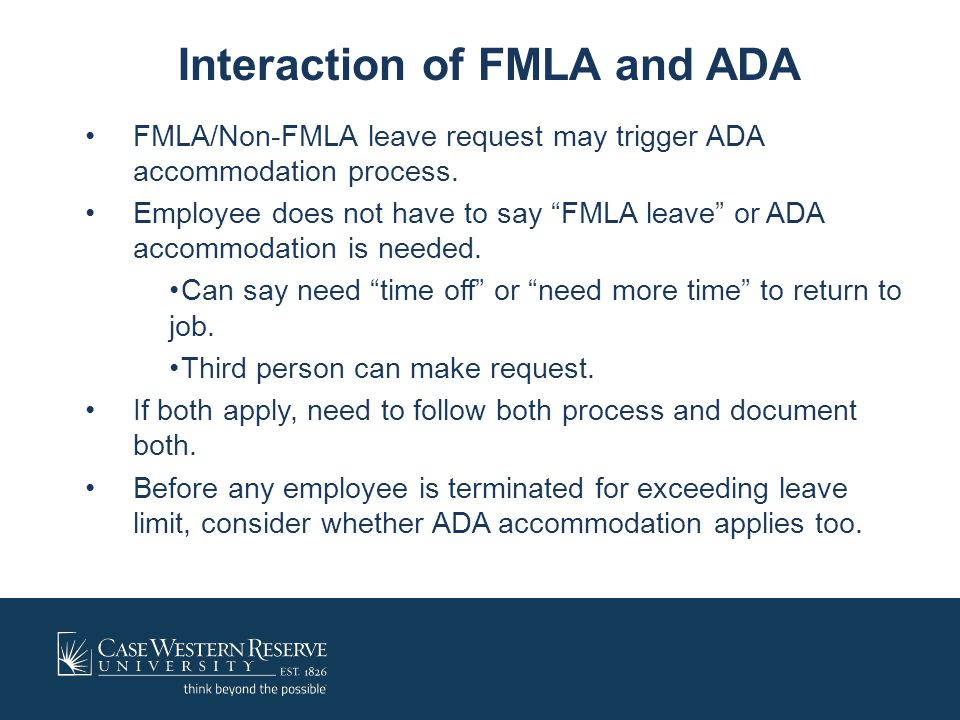 Interaction of FMLA and ADA