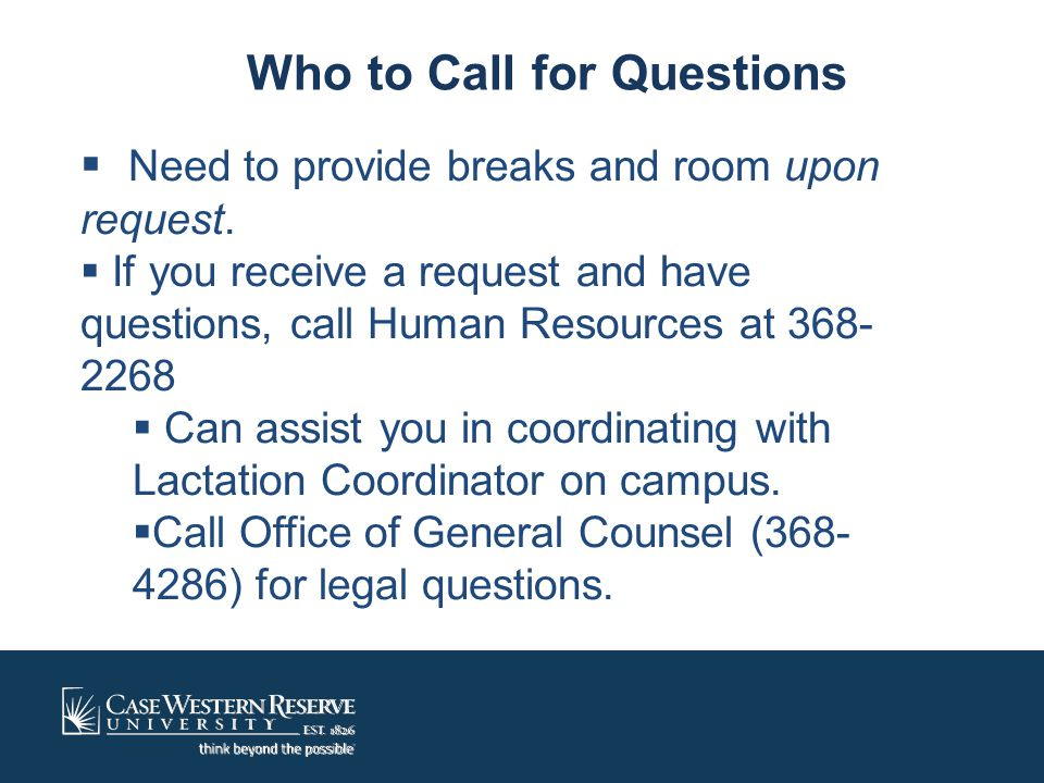 Who to Call for Questions