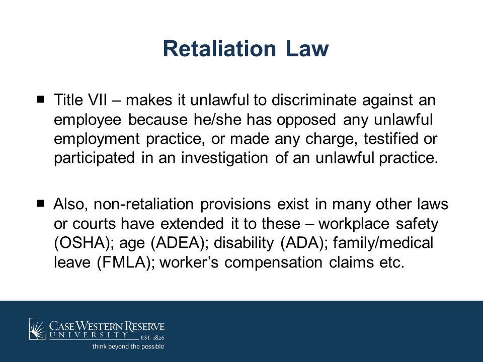 Retaliation Law