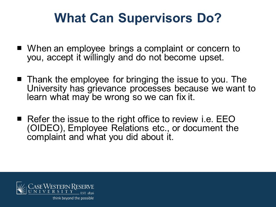 What Can Supervisors Do