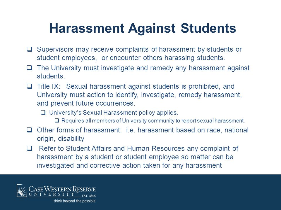 Harassment Against Students