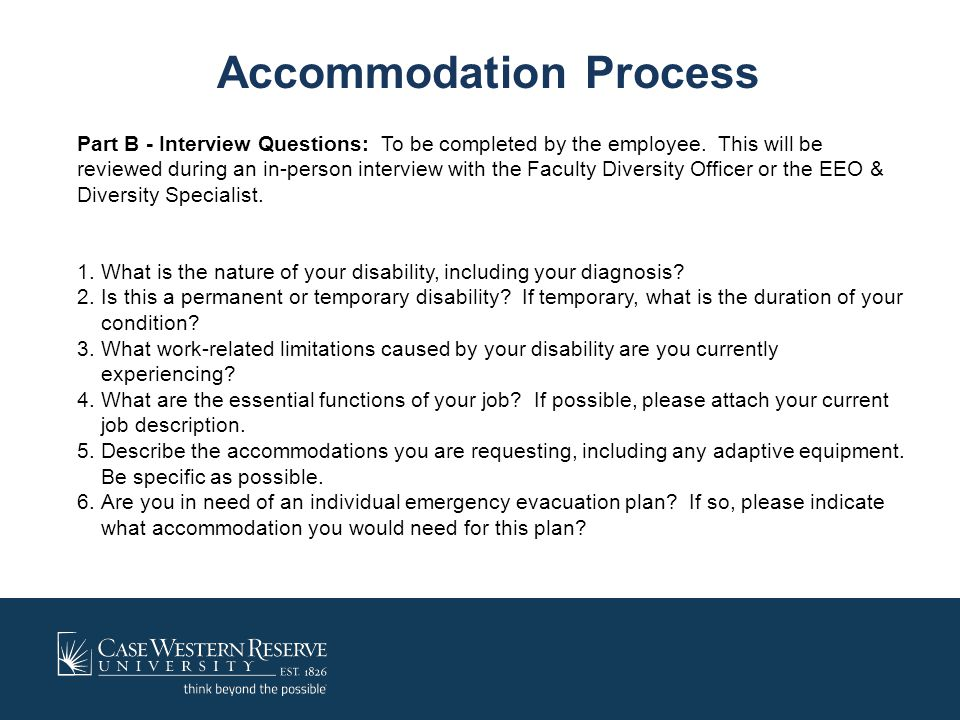 Accommodation Process