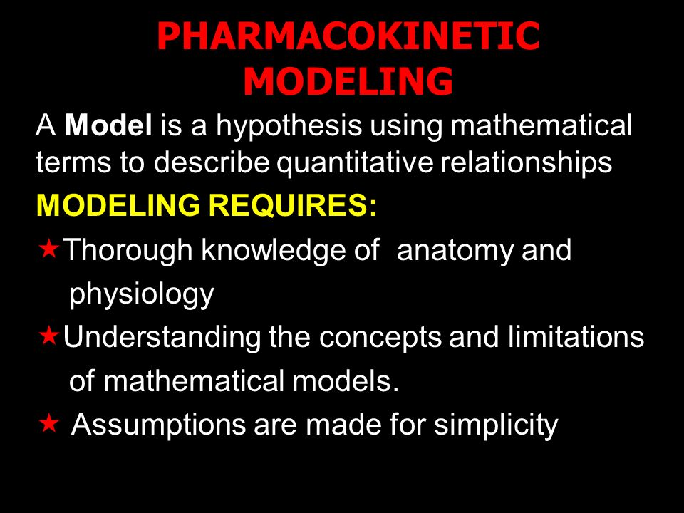 PHARMACOKINETIC MODELING