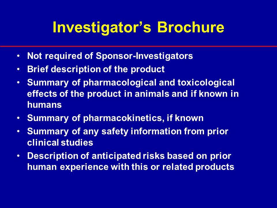 Investigator's Brochure