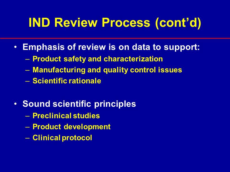IND Review Process (cont'd)