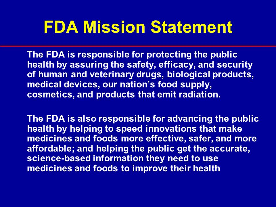 FDA Mission Statement