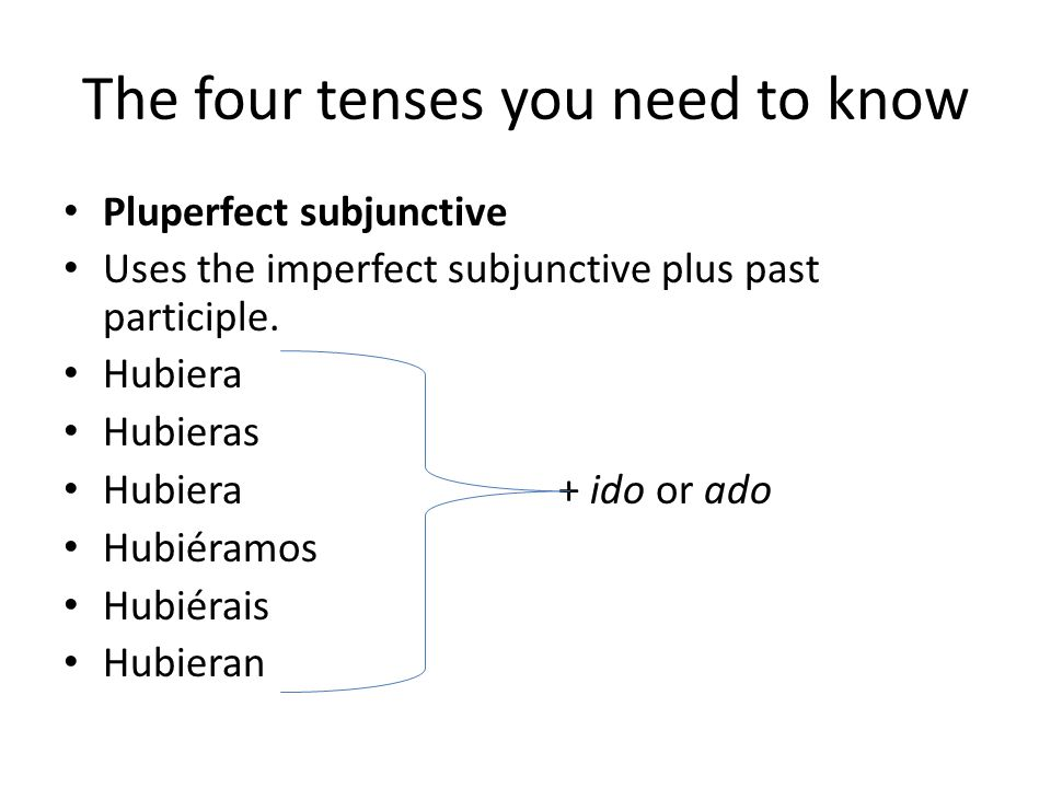 The four tenses you need to know