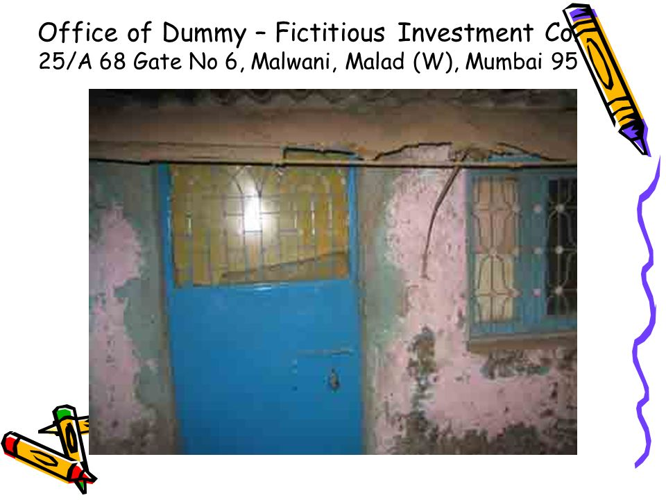 Office of Dummy – Fictitious Investment Co