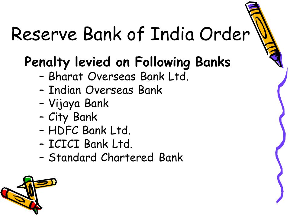 Reserve Bank of India Order