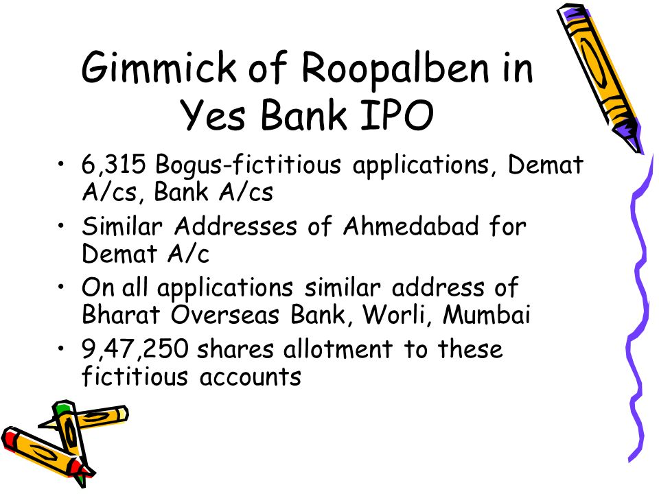 Gimmick of Roopalben in Yes Bank IPO