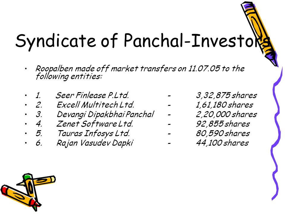 Syndicate of Panchal-Investors