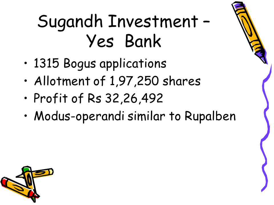 Sugandh Investment – Yes Bank