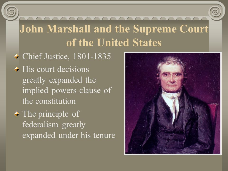 John Marshall and the Supreme Court of the United States