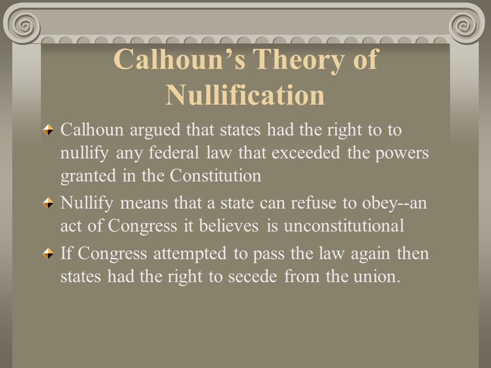 Calhoun's Theory of Nullification