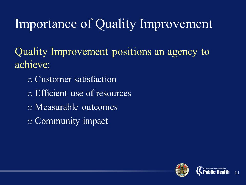 Importance of Quality Improvement