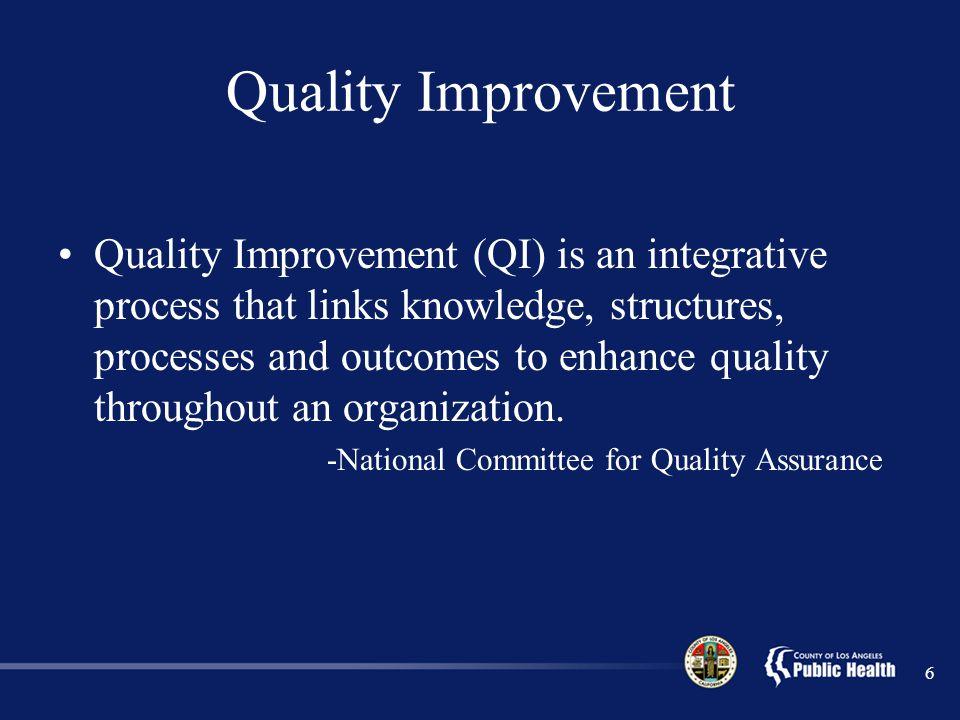 Quality Improvement
