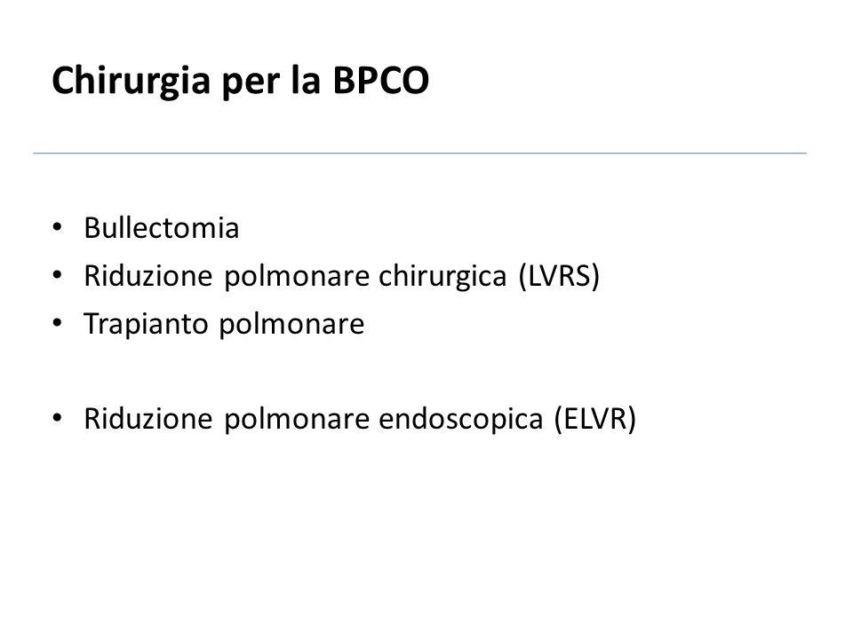 Chirurgia per la BPCO Bullectomia