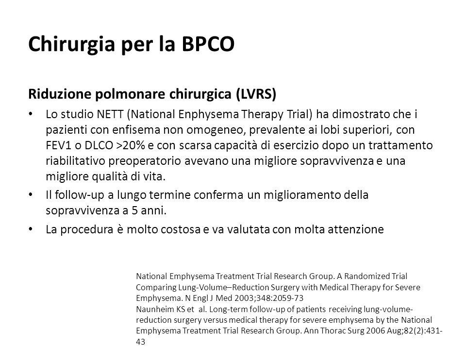 Chirurgia per la BPCO Riduzione polmonare chirurgica (LVRS)