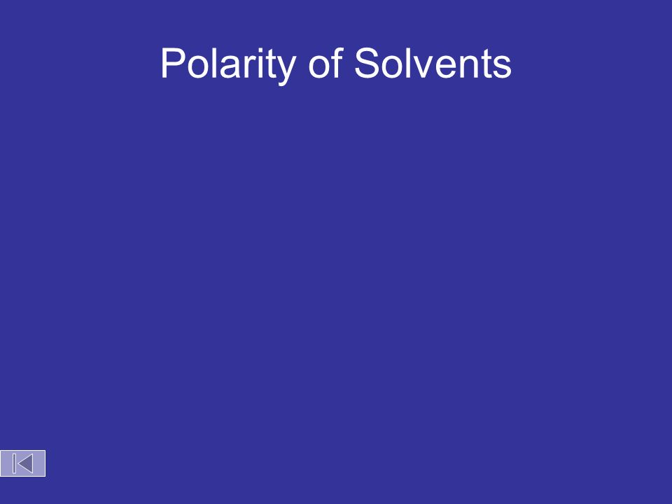 Polarity of Solvents