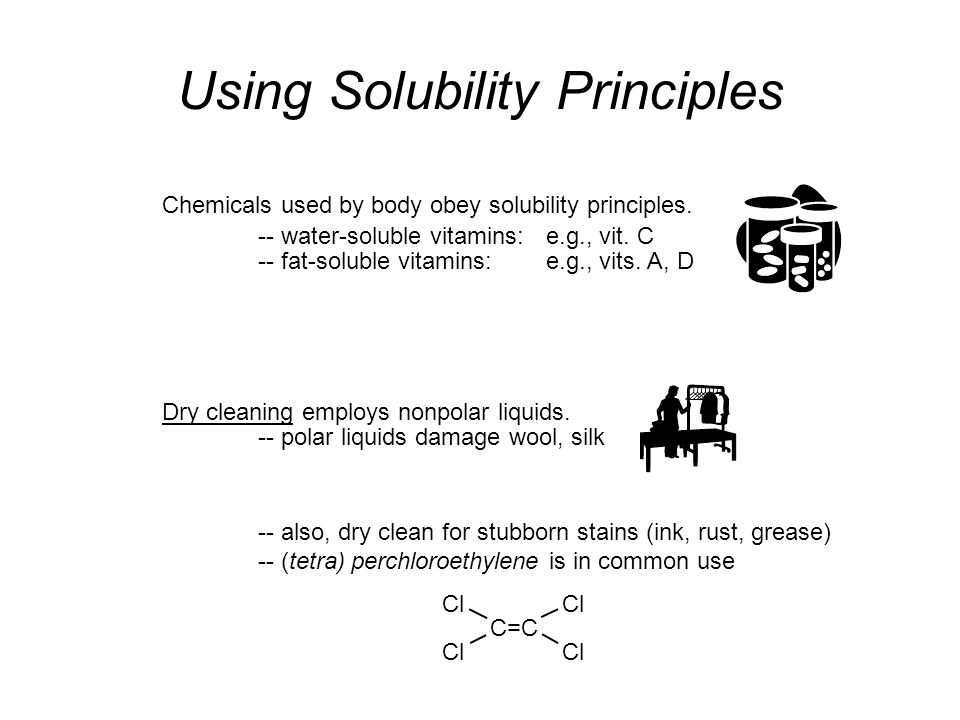 Using Solubility Principles