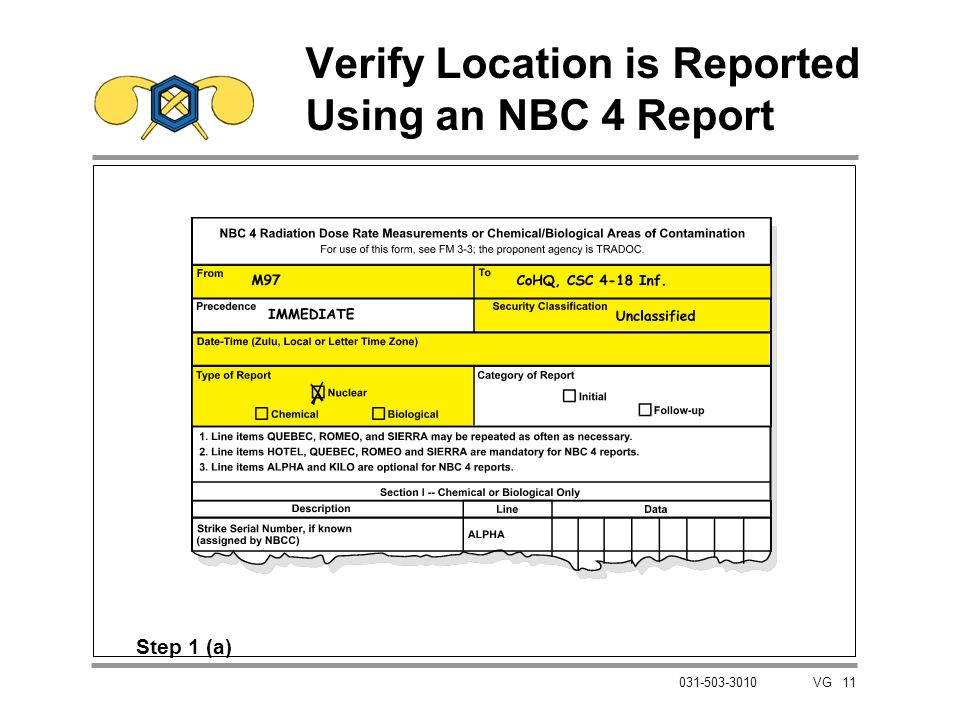 Verify Location is Reported Using an NBC 4 Report