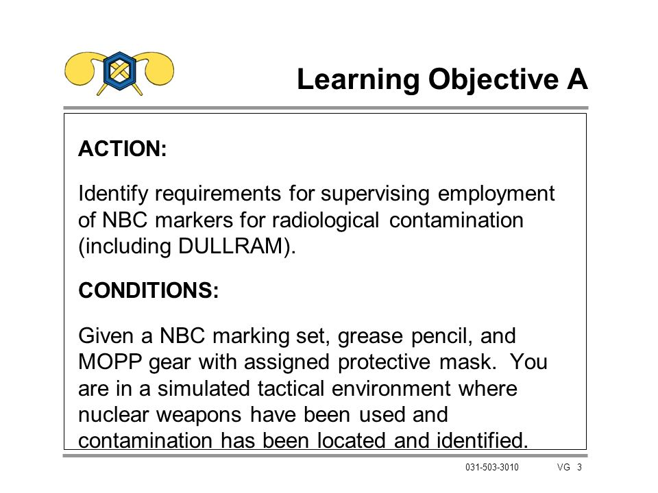Learning Objective A ACTION: