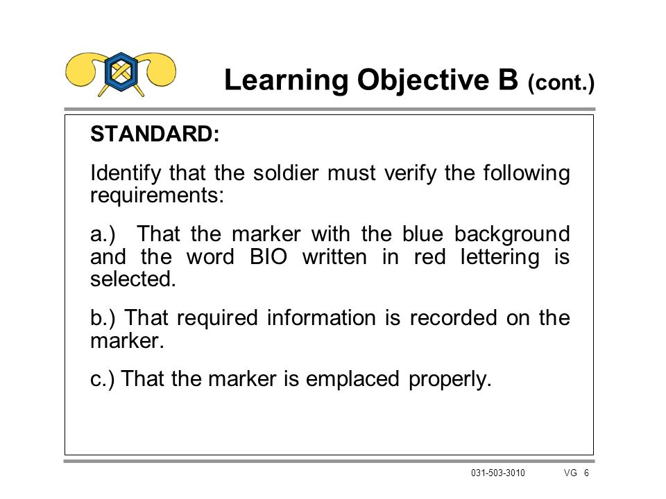 Learning Objective B (cont.)